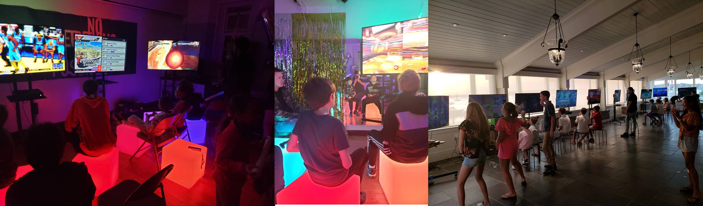 Indoor mobile video game party room in Long Island and New York City