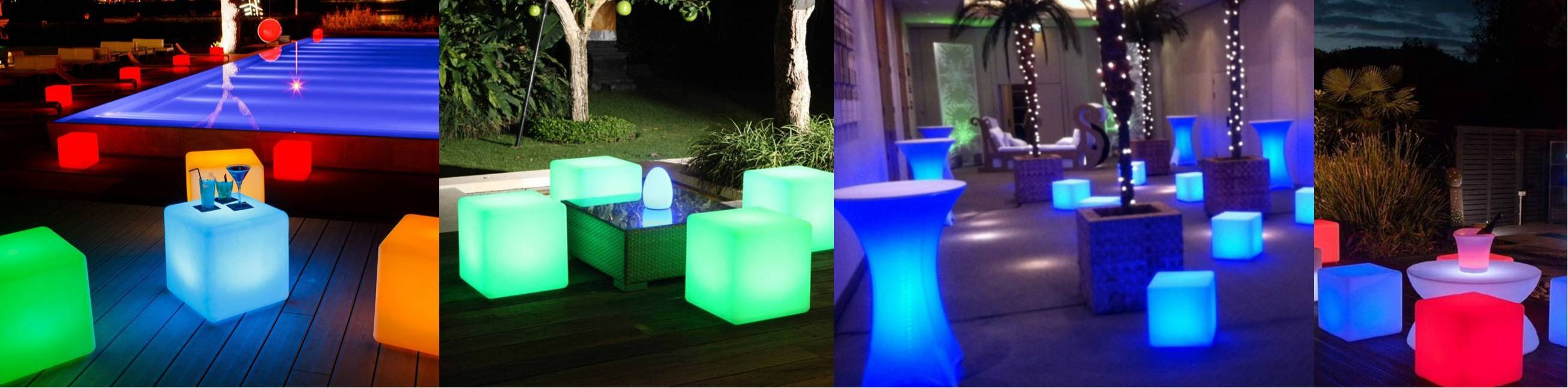 Outdoor LED glow party patio furniture in Long Island and New York City
